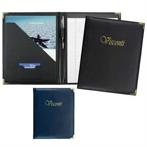 Visconti - Classically Styled Pad Folder Features Soft, Smooth Simulated Leather
