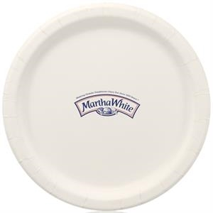 "9"" Coated Paper Plate - White"