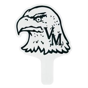 "Eagle - Weather Resistant Hand Fan, Made Of Corrugated Plastic, Approximately 8"" X 12"""