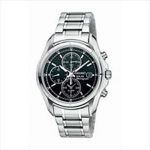 Seiko Men's Solar Alarm Chronograph Watch