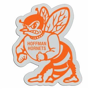 Hornet - Lightweight Plastic Sports Badge With Safety Pin Or Magnet Backing