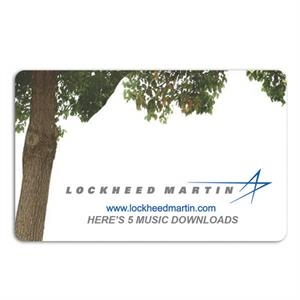 Seeded Paper Music Card