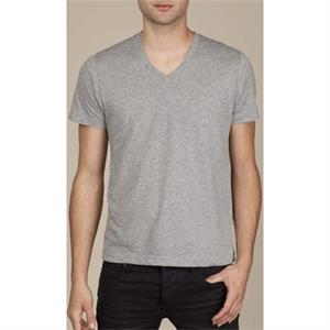 Heather Gray S- X L - Men's Cotton Jersey Basic V-neck T-shirt
