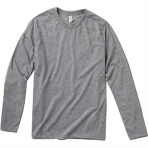 Heather S- X L - Men's Long Sleeve Basic Crew Made Of Cotton Jersey