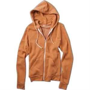 Rocky - Color 2 X L - Unisex Eco-fleece Zip Hoodie With Drawstring Ties