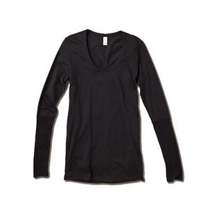 Women's Flattering, Rib-sleeve, Scoop-neck Tee