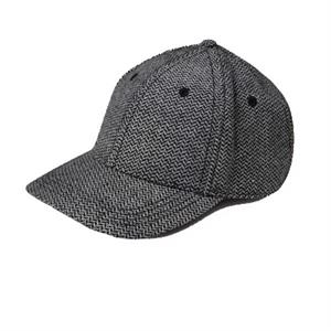 Unisex Basic Herringbone Structured Cap With Six Panels