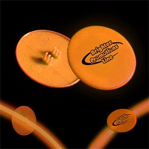 "Orange 1 1/2"" Clip On Medallion"