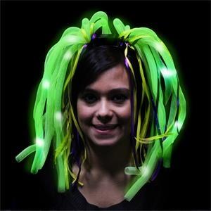 Mardi Gras Diva Dreads (TM) LED Light Up Costume Headband