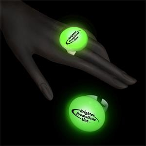 Green Led Button Ring