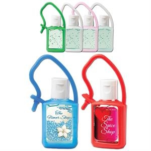 Hand Sanitizing Gel In A 1/2 Oz. Flip-top Bottle With Silicone Strap