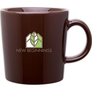 Enzo - Brown - Glossy 14 Oz. Ceramic Mug With C Handle