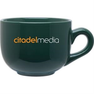 Jumbo - Green - Large Ceramic Mug With Handle And A Glossy Finish, 16 Oz