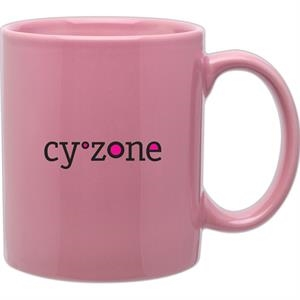 Rose - Glossy Stoneware 11 Oz. Mug With C-handle