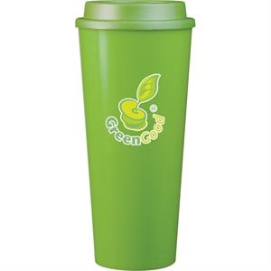 Cup2go (tm) - Apple - 20 Oz Double Wall Polypropylene Cup With Threaded Lid