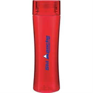 Stealth H2go (r) - Red - 24 Oz Single Wall (bpa Free) Eastman Tritan (tm) Copolyester Bottle With Threaded Lid