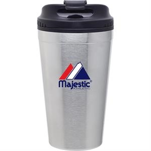 Spirit - Stainless Steel - 16 Oz Double Wall Stainless Steel Tumbler With Plastic Liner, Foam Insulated
