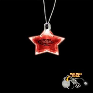 "High Quality, Star Shape Red Light-up Acrylic Pendant On A 24"" Necklace"