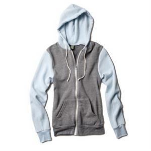 Rocky -  X S- X L - Unisex Color-blocked Eco-fleece Zip Hoodie