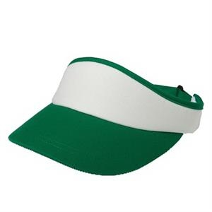 Colors - Unisex 70's Inspired Visor With Crown And Contrasting Color Bill