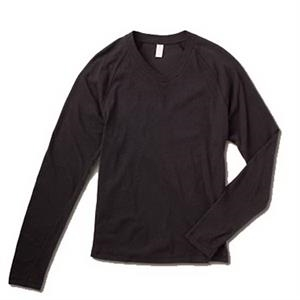 S- X L - Men's Long Sleeve Raglan V-neck
