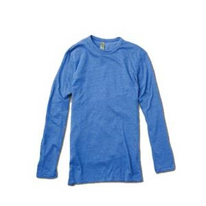 Colors S- X L - Unisex Eco-heather Long Sleeve Crew Tee