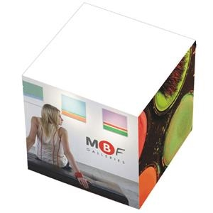 "2 3/8"" X 2 3/8"" X 2 3/8"" - Non-adhesive Notepad Cube With 5 Large Imprint Areas!"