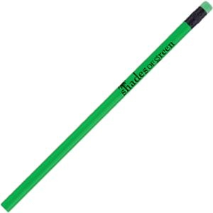 Tropicolor (tm) - Kiwi Green - Round Barrel #2 Core Pencil With Matching Eraser And Black Ferrule