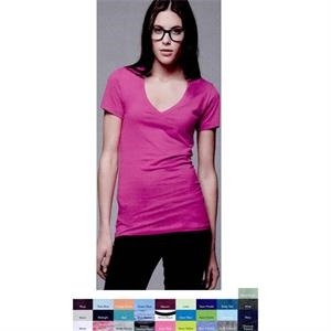 Bella (r) - Colors S- X L - Adult Jersey T-shirt With Deep V-neck. Blank Product