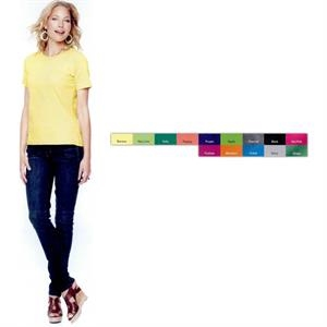 Lat - Neutral S- X L - Ladies' T-shirt. 5.5 Oz. 100% Combed Ringspun Cotton Jersey. Blank Product