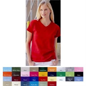 Fruit Of The Loom (r) Heavy Cotton Hd (tm) - Heathers S- X L - Ladies V-neck T-shirt, Made Of High-density Fabric. Blank Product