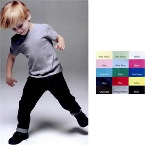 Bella Baby - Colors 2t-4t - Short Sleeve Toddler T-shirt. Blank Product