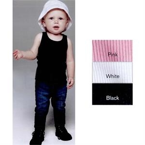 Bella Baby Bella + Canvas (r) - Colors 3/6 - 18/24 Mo - Rib Infant Tank Top. 5.8 Oz. 100% Combed Ringspun Cotton. Blank Product