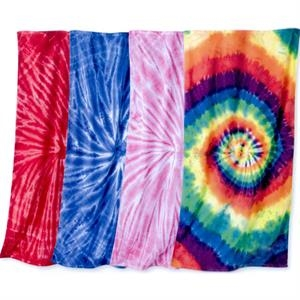 "Dynomite Apparel - Beach Towel, 30"" X 60"" With Rainbow Spirals Tie-dyed Pattern. Blank"