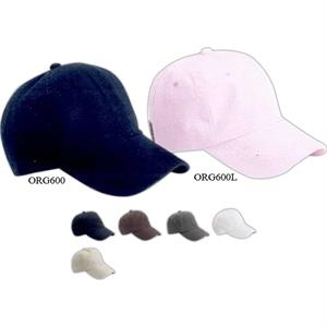 Outdoor Cap (r) - Ladies Six-panel, Low-profile, Unstructured 100% Organic Cotton Cap. Blank Product