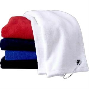 The Carmel Towel Company - Colors - Soft Velour Hemmed Sports Towel With Hook And Grommet. Blank