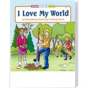 I Love My World Coloring/activity Book Fun Pack With Crayons In Imprinted Box