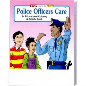 Police Officers Care Educational Coloring And Activity Book Fun Pack