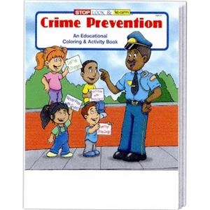 Crime Prevention Coloring/activity Book Fun Pack With Crayons In Imprinted Box