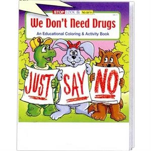 We Don't Need Drugs Coloring/activity Book Fun Pack With Crayons In Imprinted Box