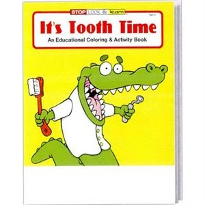 It's Tooth Time Coloring And Activity Book Fun Pack With 4-pack Of Crayons