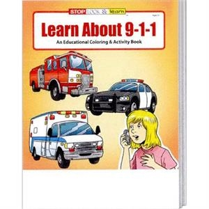 Learn About 9-1-1 Educational Coloring And Activity Book