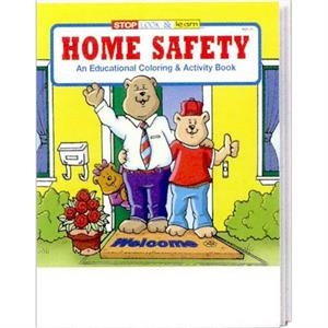 Home Safety Coloring And Activity Book Fun Pack With A 4-pack Of Crayons
