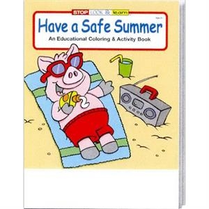 Have A Safe Summer Coloring And Activity Book Fun Pack With A 4-pack Of Crayons