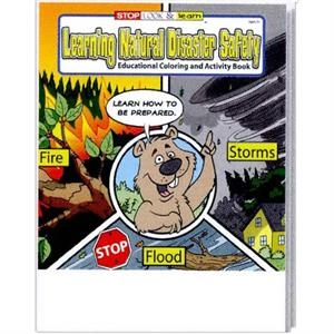 Learning Natural Disaster Safety Educational Coloring And Activity Book