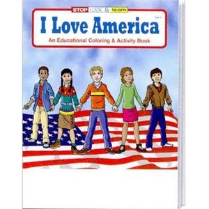 I Love America Coloring And Activity Book Fun Pack With A 4-pack Of Crayons