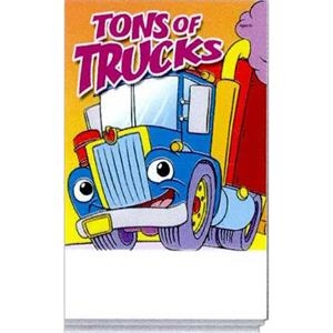 Tons Of Trucks Activity Pad Fun Pack With A 4-pack Of Unimprinted Crayons
