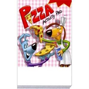 Pizza Activity Pad Fun Pack With A 4-pack Of Unimprinted Crayons