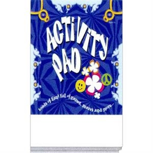 Activity Pad With 16 Pages Of Text That Contains Games And Activities