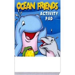 Ocean Friends Activity Pad Fun Pack With A 4-pack Of Unimprinted Crayons